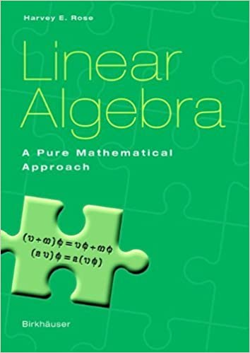 Book Linear Algebra: A Pure Mathematical Approach Softcover reprint of edition by Rose, Harvey E. (2002)