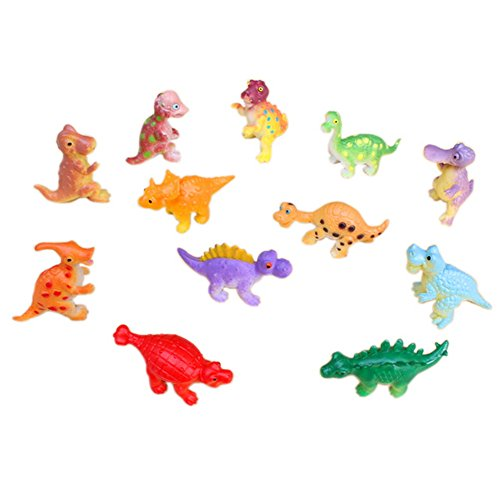 Dimart Kids Toys Mini Cartoon Dinosaurs Figures Assorted Set of 12 (B, Multicolor) (Baby Dinosaur Cartoon)