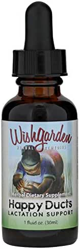 WishGarden Herbs - Happy Ducts, Organic Herbal Lactation Support Supplement, Supports Natural Lactation for Breastfeeding Mothers (1 oz Dropper)