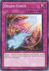 Yu-Gi-Oh! - Degen-Force (ORCS-EN073) - Order of Chaos - 1st Edition - - Chaos Force Trap