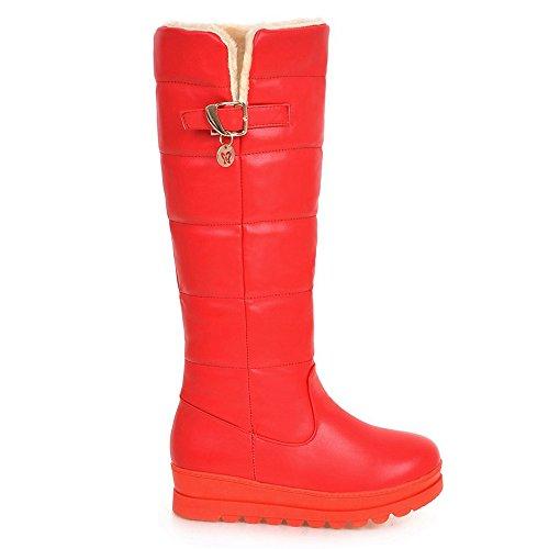 Red Inverno Donna TAOFFEN Pull Stivali on gEPqwXqv