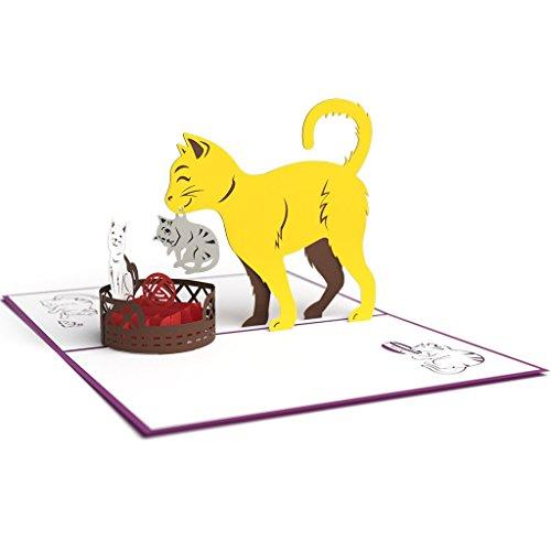 Lovepop Cat Mom 3D greeting card gift