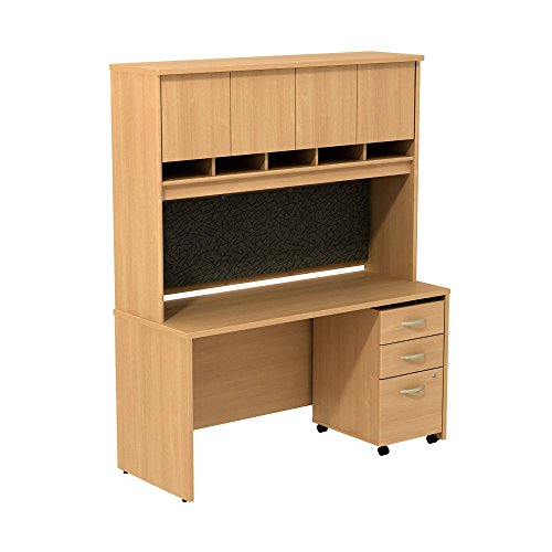 Series C Credenza with Hutch and Pedestal - 60