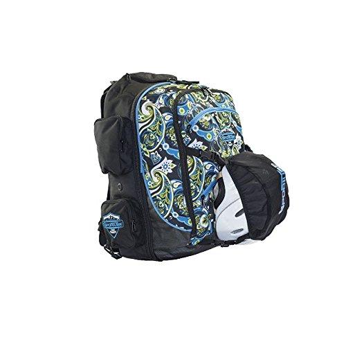 Sportube Over Header Carry On Backpack Boot Bag, Paisley by Sportube