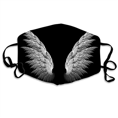 3D Print Angel Wings Hip Hop Face Cover, Role-playing Japanese Anime Cartoon Style Face Cover, Washable And Reusable For Running And Cycling Mouth Cover