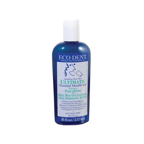 Eco Dent Sparkling Clean Mint Daily Mouth Rinse, 8 Ounce - 6 per case.