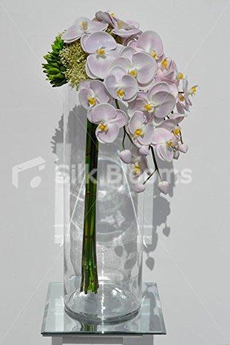 Toque fresco color rosa orquídea arreglo Floral con marfil Allium y bayas