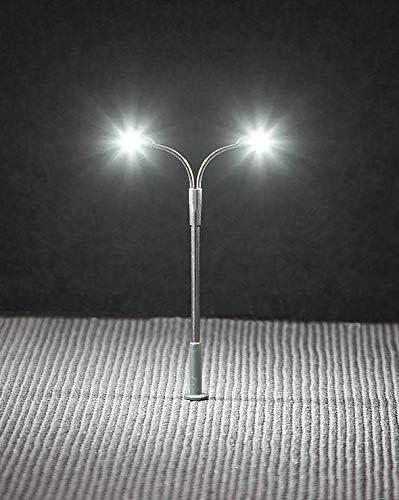 Faller LED-Stra/ßenbeleuchtung Peitschenleuchte Doppelausleger Andys Hobby Shop 272221
