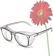 Safety Goggles Glasses,Anti Pollen Blue Light Blocking Eyeglasses for Men Women with Anti-Fog Lens