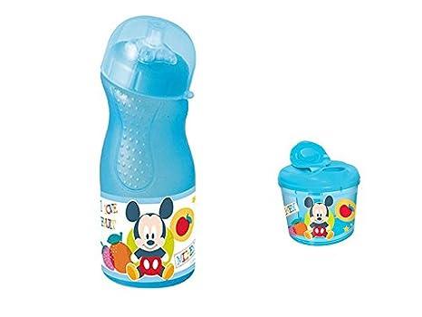 Disney, 0161, vajilla infantil, Botella y dispensador leche (Mickey Mouse)