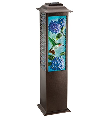 Regal Arts SS-Rag-11472 42 inch Solar Garden Hummingbird Lantern by Regal Arts