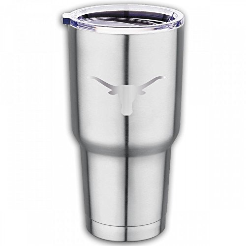 PO1 UP Texas Longhorns Platinum Logo 100% Food Grade Blank Mug Stainless Steel Travel Coffee Cup