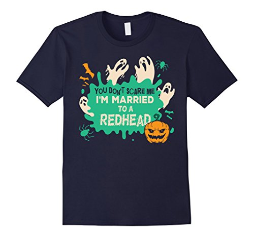 Redhead Male Halloween Costumes (Mens You Don't Scare Me I Married A Redhead Halloween Costume XL Navy)