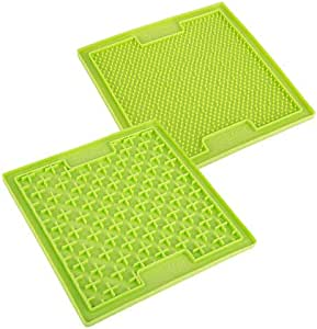 Lickimat Double Pack Anti-Anxiety Lick Mats, Green, One Size