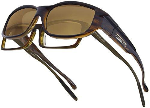 Torana JP Fitovers - Amber Sky - Amber Lens - Sunglasses Clubmaster Similar To