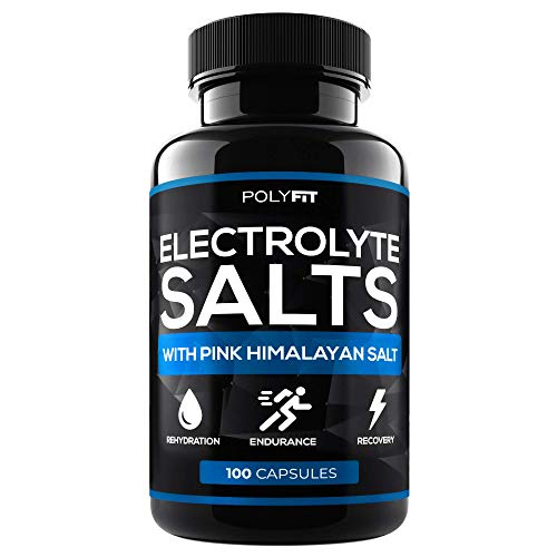 Electrolyte Salt Tablets - 100 Pills - Electrolytes Replacement Supplement for Rapid Hydration