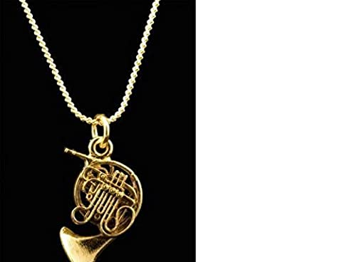 Harmony Jewelry Elegant French Horn Necklace, Gold (Marshall 1959 Super Lead)