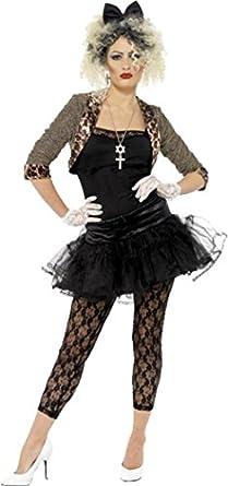80s Wild Child Madonna Costume Pop Star Womens Fancy Dress Party Outfit  sc 1 st  Amazon.com & Amazon.com: 80s Wild Child Adult Costume - Plus Size 1X: Clothing