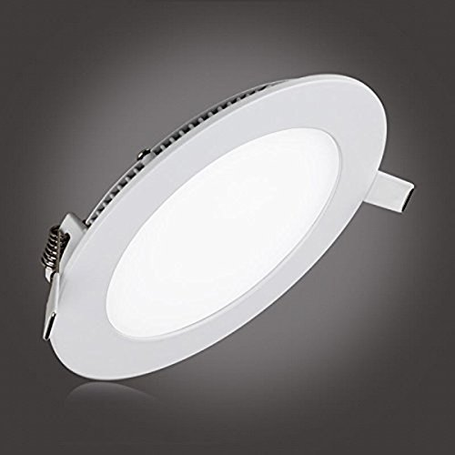 9W LED Panel Light Fixtures Dimmable, szwintec Ultra-thin Recessed Ceiling Light, 60W Incandescent Equivalent, 720lm, Warm White 3000K, Cut Hole 4.9 Inch, Downlight with 120V LED Isolation Driver (Inst Panel)