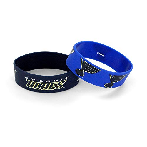 aminco NHL St. Louis Blues Wide Bracelets, 2-Pack