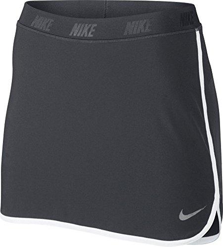 Nike Golf Women's Fringe Flip Skort Dark Grey/Metallic Silver Skirt LG - Nike Elastic Waist Skirt