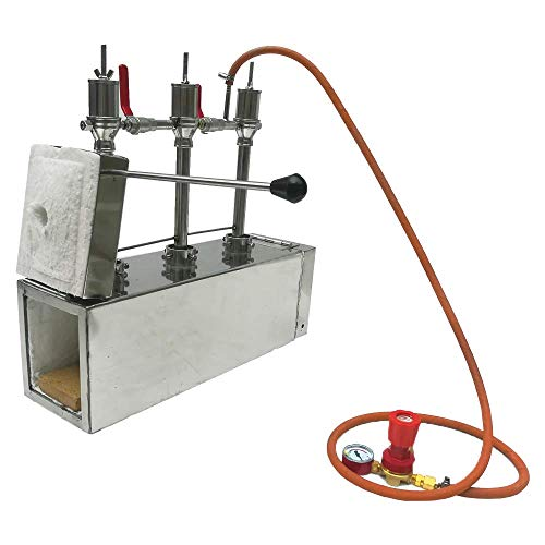 Portable Propane Triple Burner with Both Side Door Knife and Tool Making Farrier Forge, Rectangle Shape