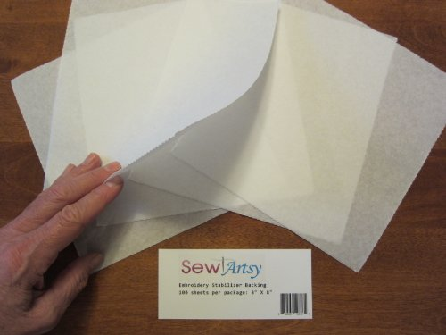 Tear Away Machine Embroidery Stabilizer Backing - Precut Sheets 8