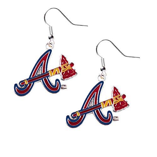 aminco Atlanta Braves Dangle Logo Earring Set Charm Gift MLB ()