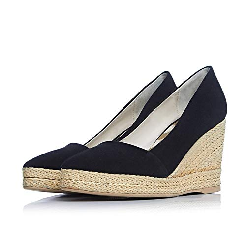 Orange ZHZNVX de Fall Basic Heel Pump Suede Black Zapatos Mujer Green Wedge Black Talones aaxUqFP