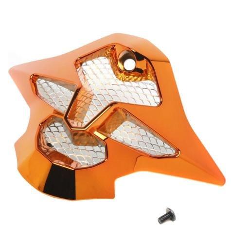Helmet Replacement Mouthpiece (Shoei VFX-W Chrome Sleek Mouth Piece Helmet Accessories - Orange/One Size)