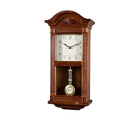 RELOJESDECO Reloj de Pared de péndulo 51cm, Reloj de pendulo, Reloj de carrillon, sonería Westminster Madera. Ojo Disponible en num.