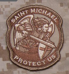 Saint Michael Modern Morale Patch  Desert  Tan