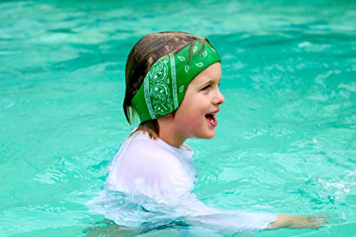 The Good Ears Swimming Headband for Babies - Toddlers - Kids - Adults. Got Ear Tubes? Want to Avoid Them Altogether? Try Our Swimming Headband! (Green, Medium)