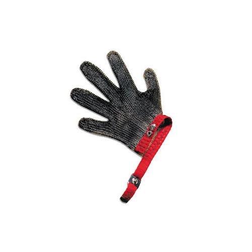San Jamar MGA515M Steel Mesh 5 Finger Cut-Resistant Gloves, Medium