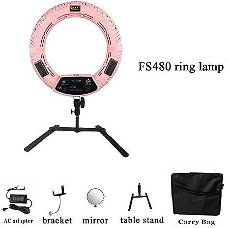 LED Ring Light Table Top Mini LED Ring Light Lighting Kit Includes12 inch Outer 38W 5500K Ring Light Desktop Support Stand Beauty Blog Make up Selfie Studio Portrait Video Photography Mirror