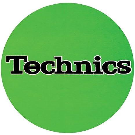Technics DJ Slipmat verde con logo color negro: Amazon.es ...