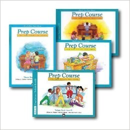Alfred's Basic Piano Prep Course Level B - Four Book Set - Includes Lesson, Theory, Technic, and Notespeller books (Piano Basic Course Notespeller Book)