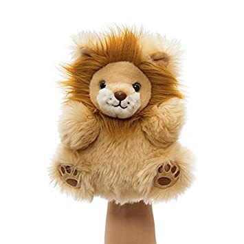 manhattan toy fuzzy loves lion hand puppet hand puppets amazon canada