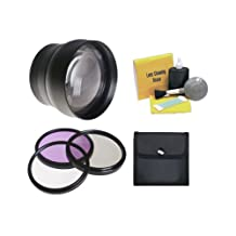 Nikon P530 2.2x High Definition Super Telephoto Lens + Lens/Filter Adapter + 58mm 3 Piece Filter Kit + Nwv Direct 5 Piece Cleaning Kit