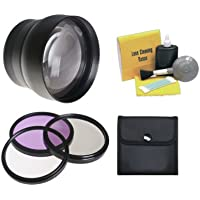 GoPro HERO3+ 2.2x High Definition Super Telephoto Lens + 37mm 3 Piece Filter Kit + Lens Adapters + Nw Direct 5 Piece Cleaning Kit (Includes 2 Adapters For Using With And Without Housing)