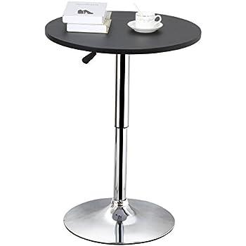 Amazon yaheetech 35 black round swivel bar table adjustable yaheetech 35 black round swivel bar table adjustable height hydraulic lift base watchthetrailerfo