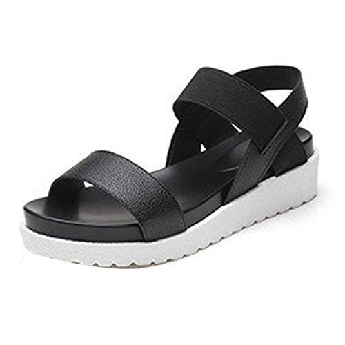 de Plataforma con Zapatos Sandalias Pescado Boca C Mujer K de Moda Mujer De Youth de Sandalias 0gvUc