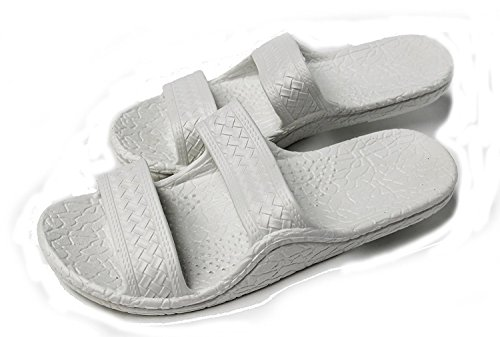 Kali Footwear Women's Jesus Hawaii Open Toe Double Strap Hawaiian Sandals Simple White 10
