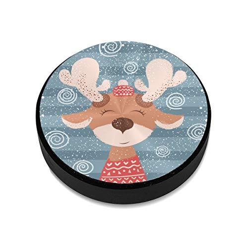 Magnetic Mount,Cartoon Funny Deer Character Winter Magnetic Car Mount Phone Holder Cell Phone Holder Mount Smartphone Car Mount Holder