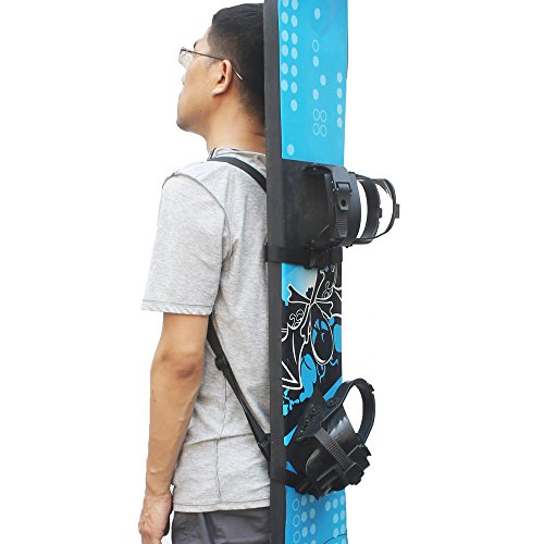 YYST Snowboard Backpack Shoulder Strap Snowboard Backpack Carry Strap Snowboard Carrier - No Snowboard