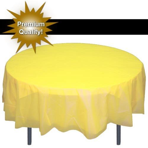 Premium Round Light Yellow table cover