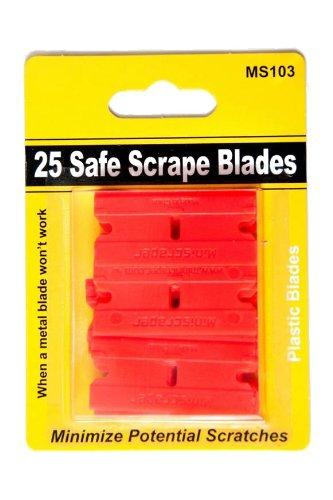 25 Plastic Razor Blades Double Edge Safe Scrape Blades
