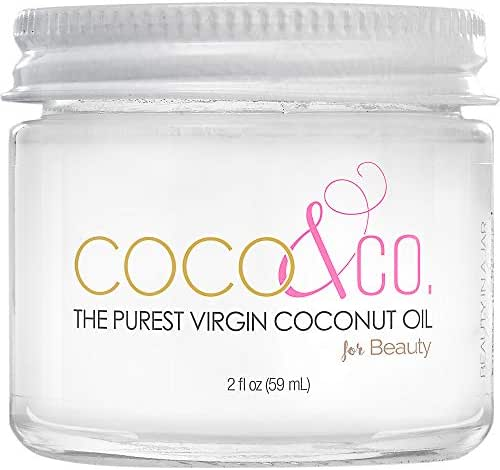 COCO & CO. Organic Pure Extra Virgin Coconut Oil for Hair & Skin, Beauty Grade - Mini Jar, 2oz (2oz)