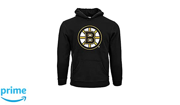 Amazon.com   NHL Boston Bruins Suede Crest Eli Youth Pullover Hoodie ... a0779c1c4