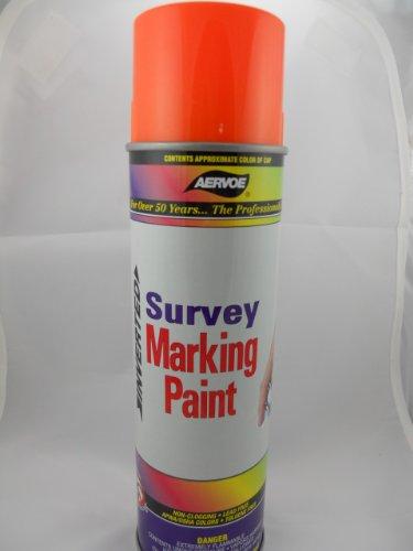 Aervoe Orange Flourescent Marking Paint Spray